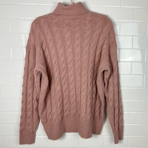 SUZY SHIER Soft Pink Turtle Neck Knit Sweater